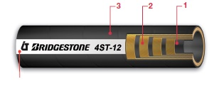 "SLANG 4-WS 1"" 350BAR Bridgestone"